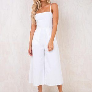 Princess Polly Road to Nashville Jumpsuit White